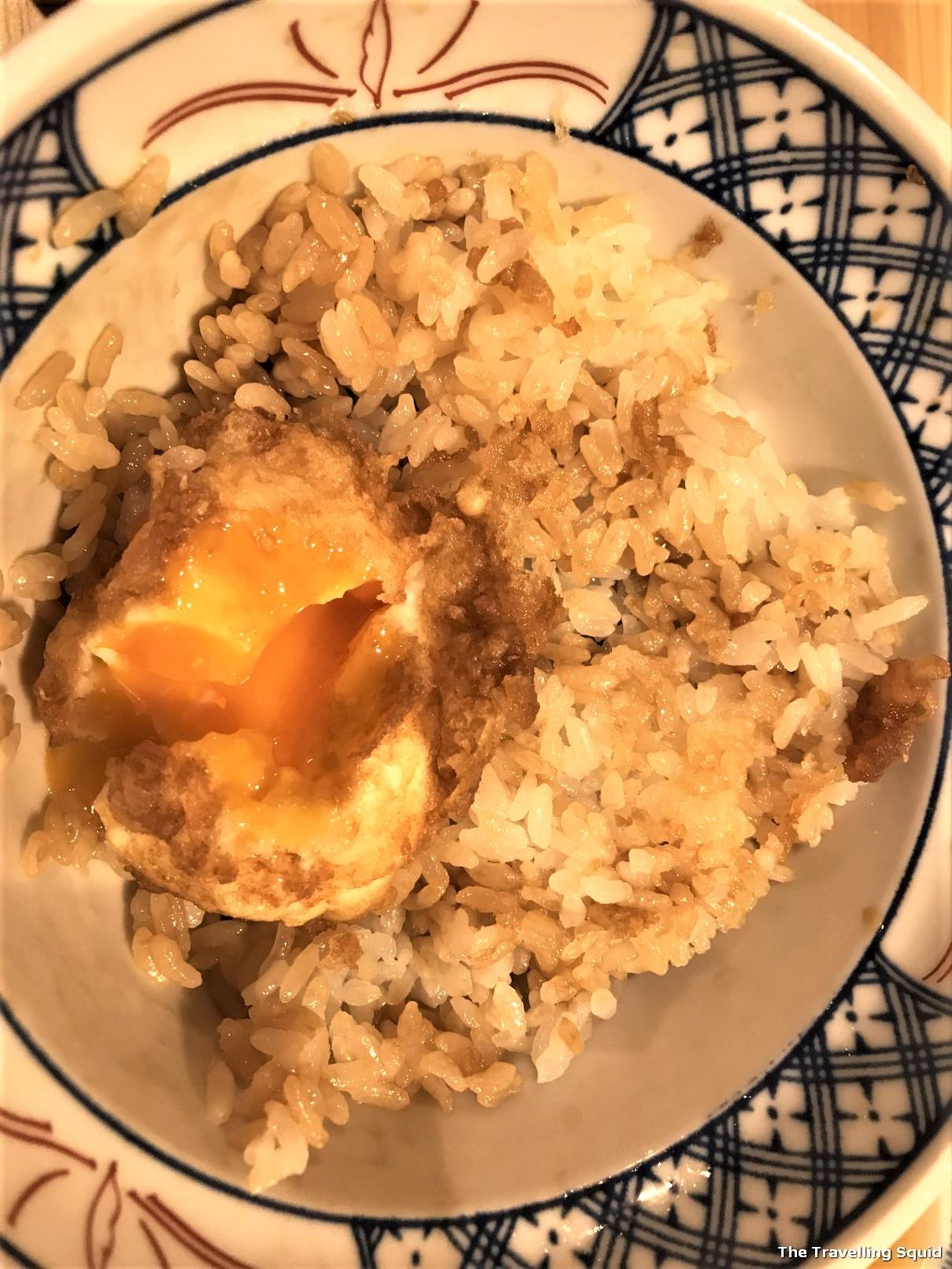 onsen egg Tendon Makino Kyoto Teramachi in Kyoto