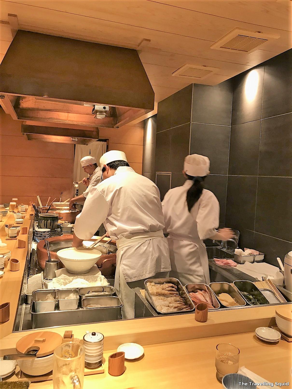 female chefs Tendon Makino Kyoto Teramachi in Kyoto