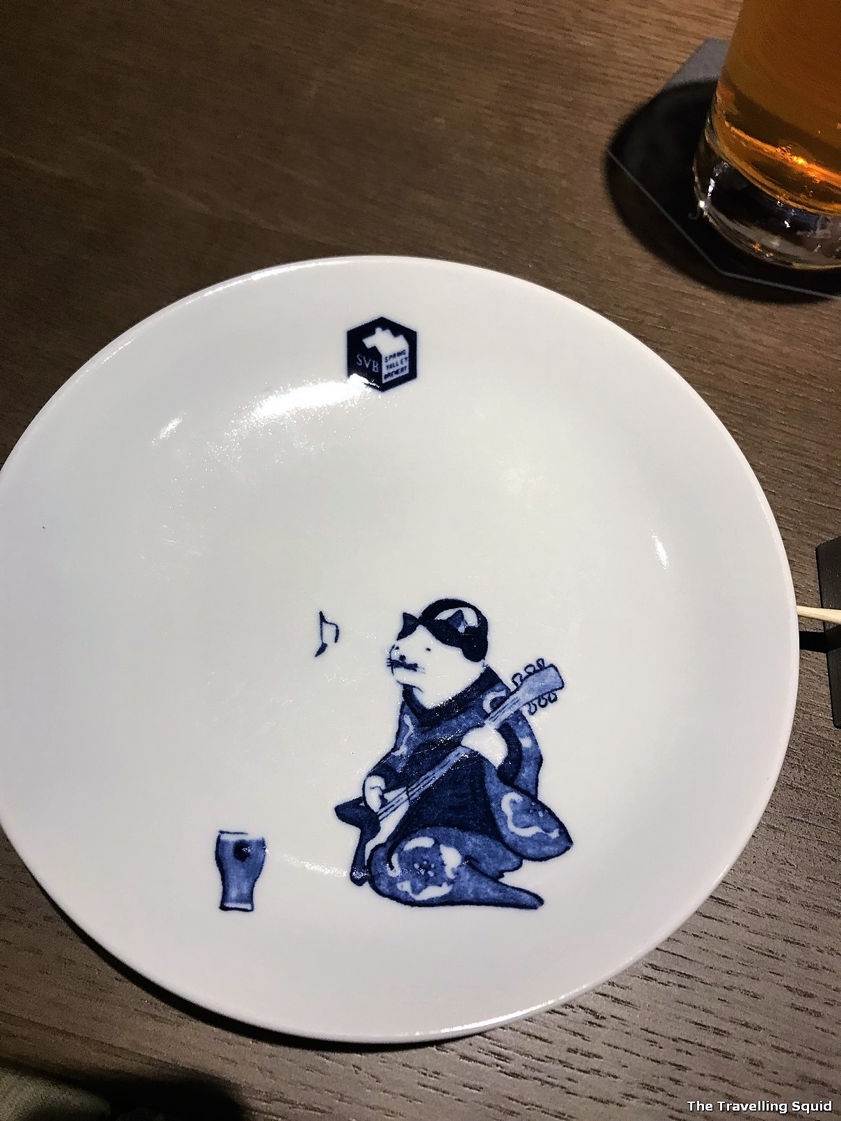Spring Valley Brewery in Kyoto plate