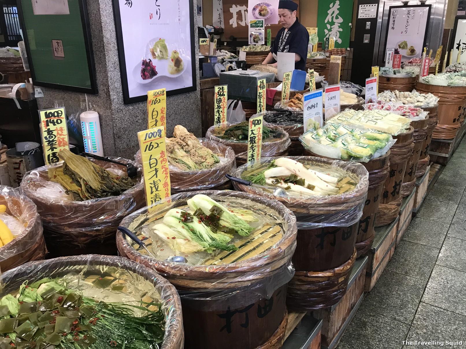 pickles nishiki market kyoto food