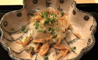 sakura shrimp gion suetomo kyoto kaiseki lunch