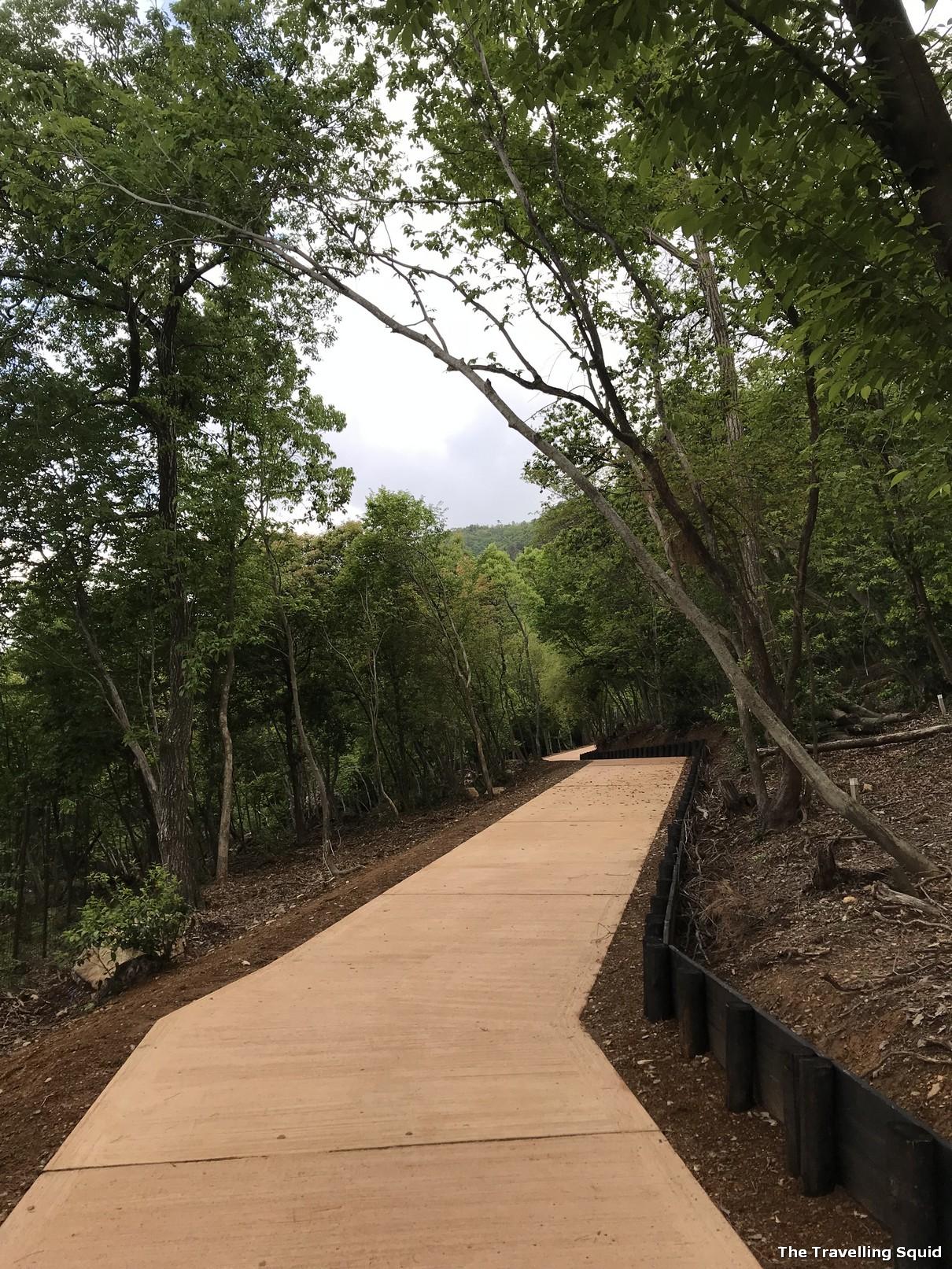 end of Arashiyama Park