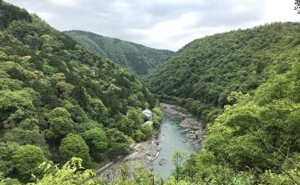 river gorge of Sagano Arashiyama