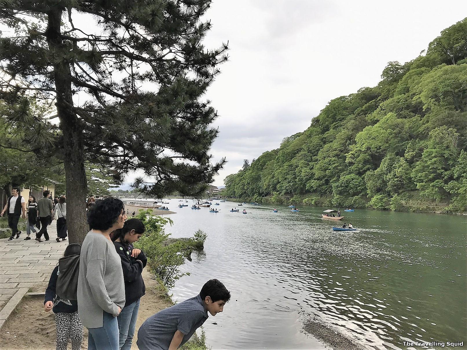 river gorge of Sagano Arashiyama