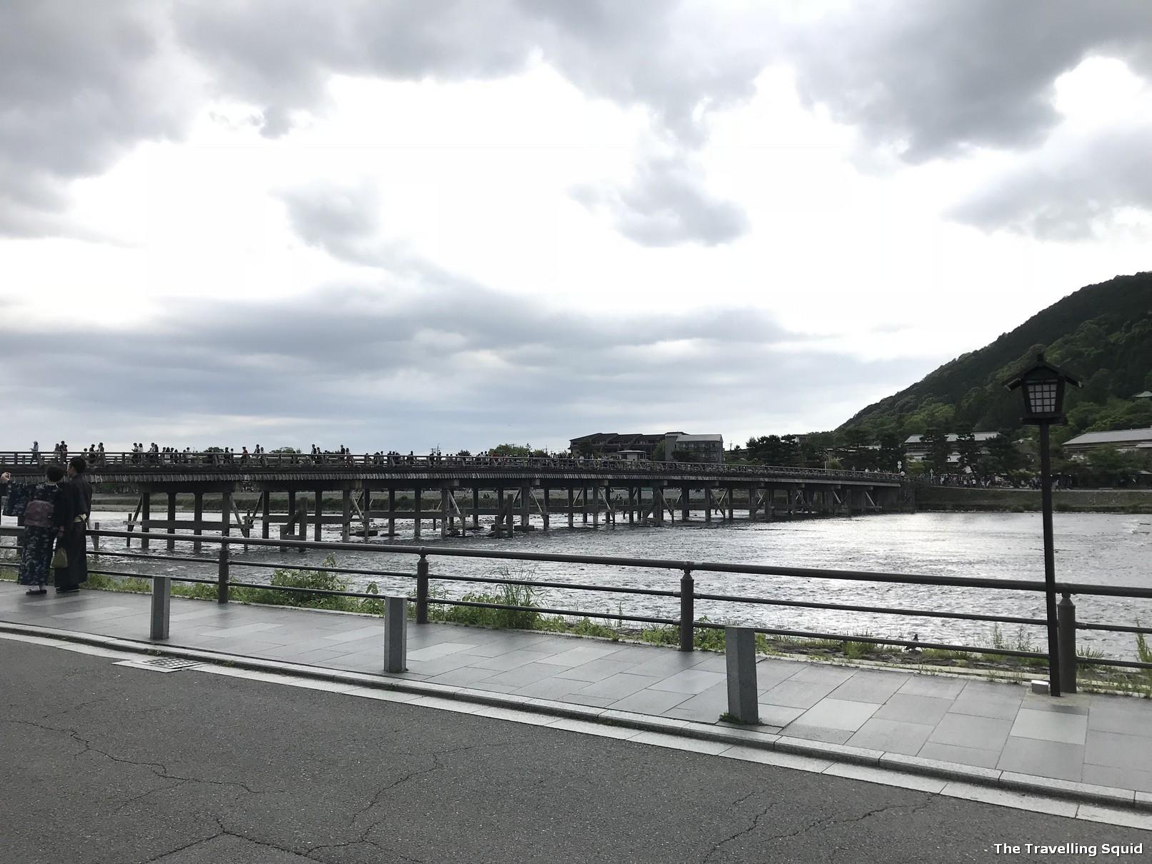 Togetsukyo Bridge river gorge of Sagano Arashiyama