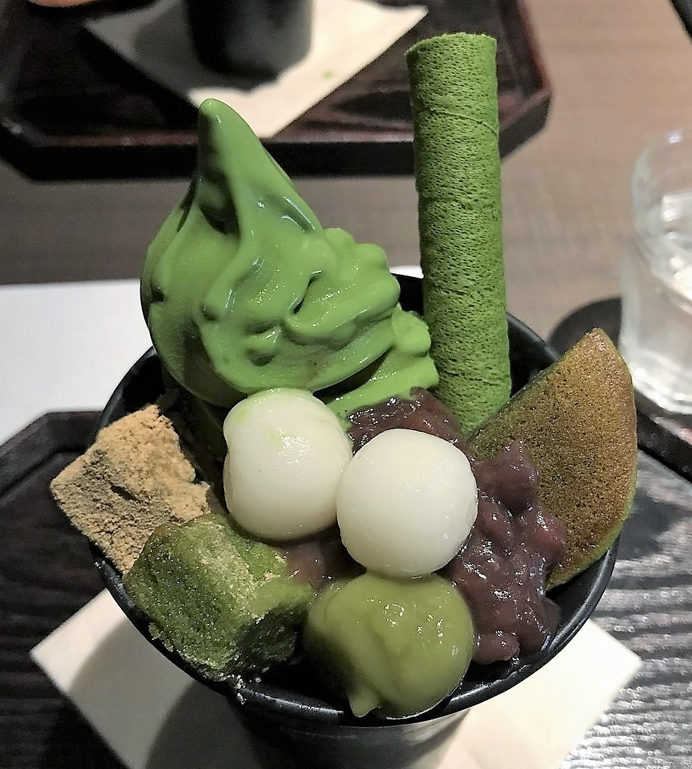 Saryo Suisen for the best green tea parfait in Kyoto