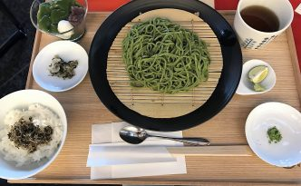 Nakamura Tokichi in Uji Japan green tea soba set