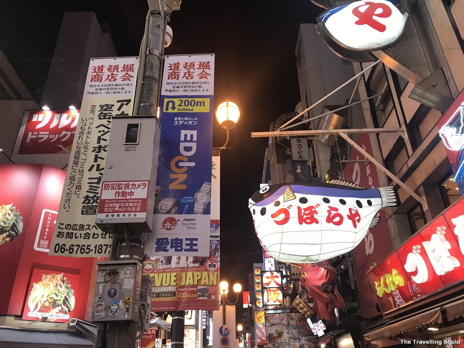 eat and drink at Dotonbori in Osaka