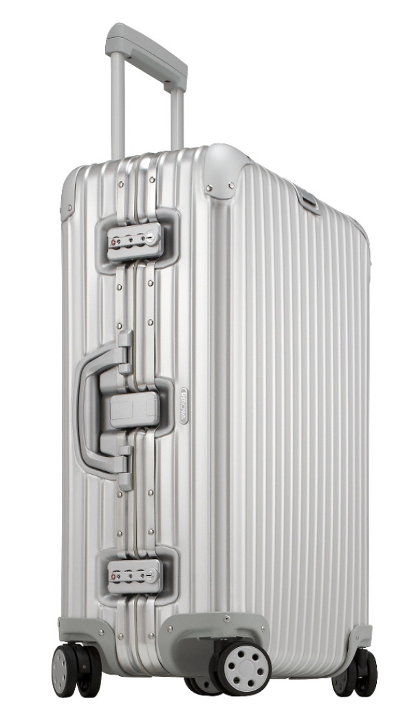 rimowa silver luggage
