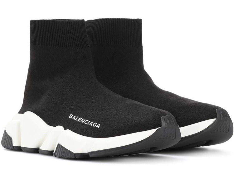 balenciaga black trainers