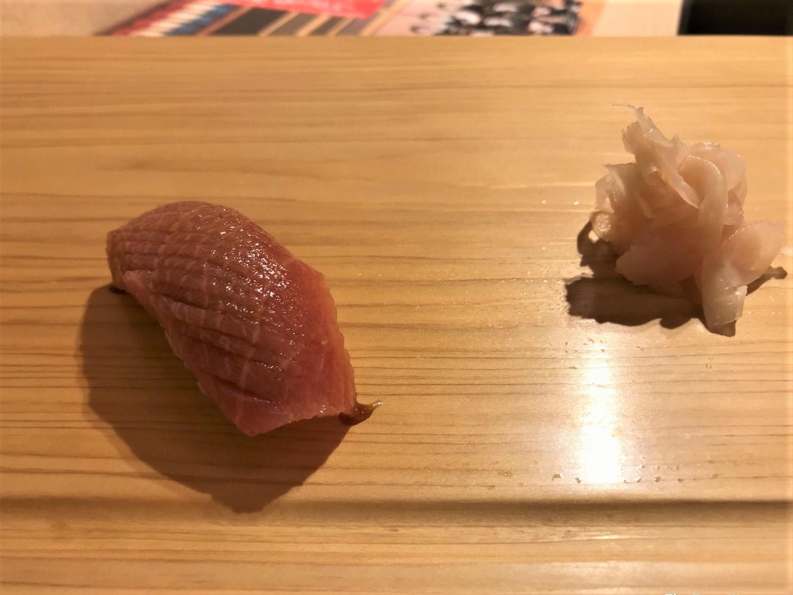 tuna chutoro edomae sushi at Sushi Satake in Tokyo