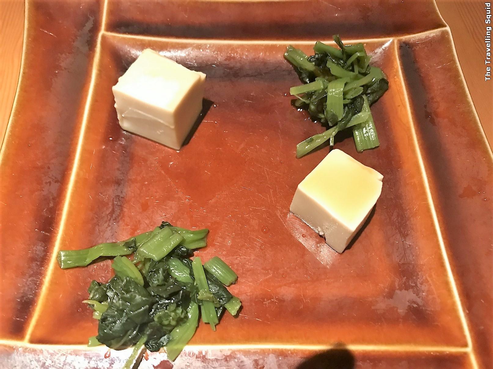 tofu contemporary sushi at Manten Sushi in Tokyo