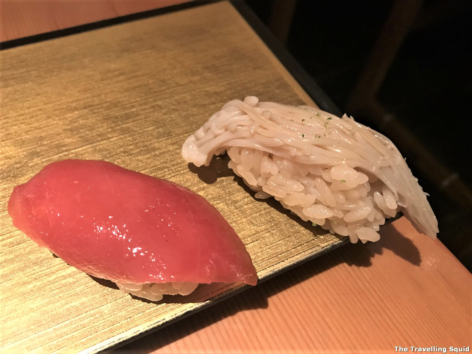 contemporary sushi at Manten Sushi in Tokyo