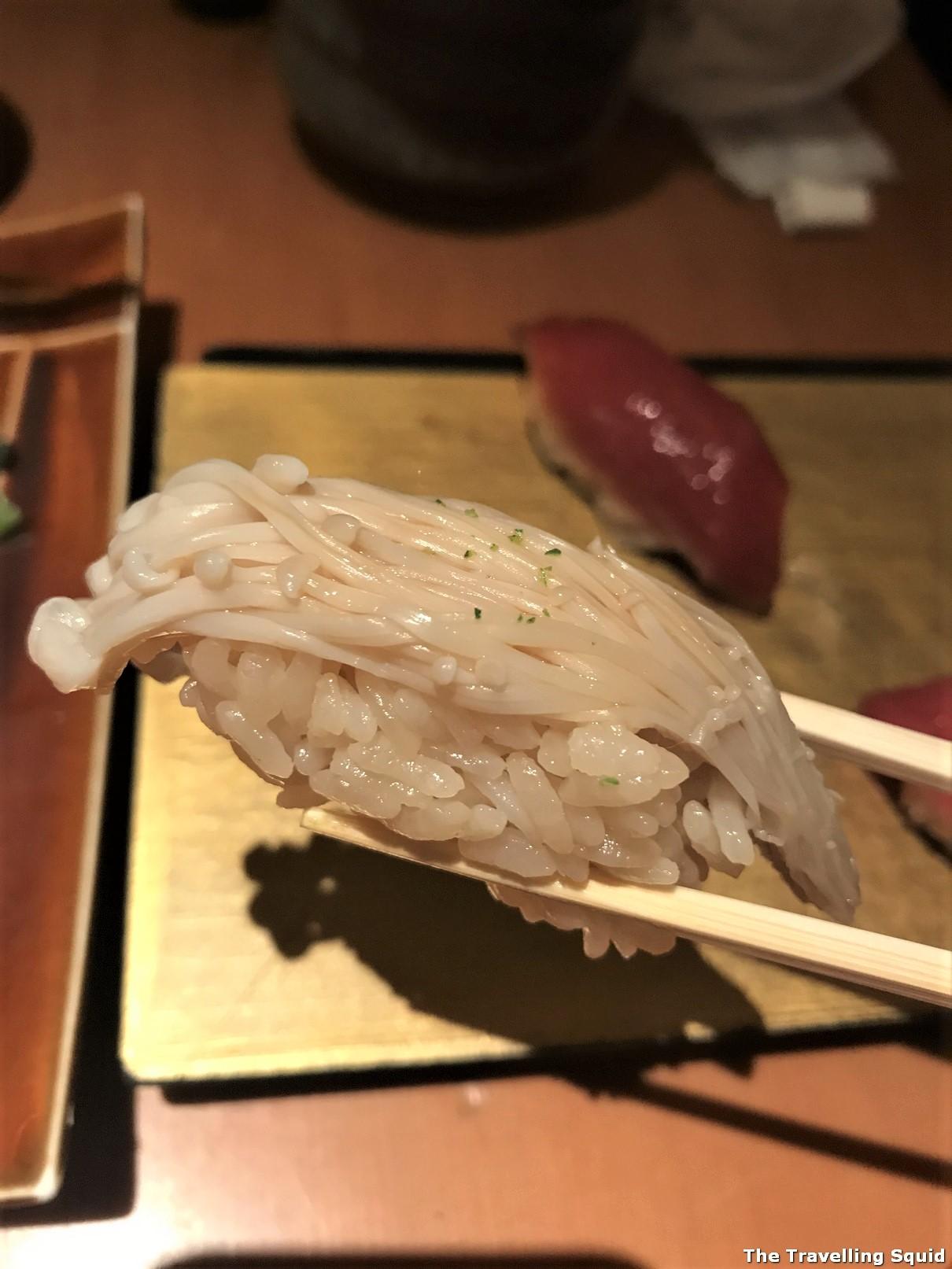 enoki mushroom sushi manten