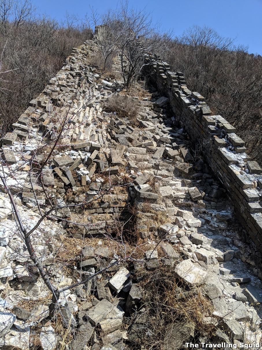 ox horn great wall china jiankou slope