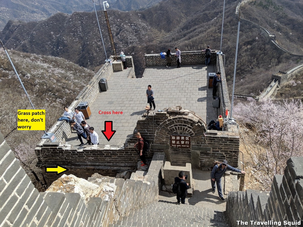 barrier Great Wall hike from Jiankou to Mutianyu