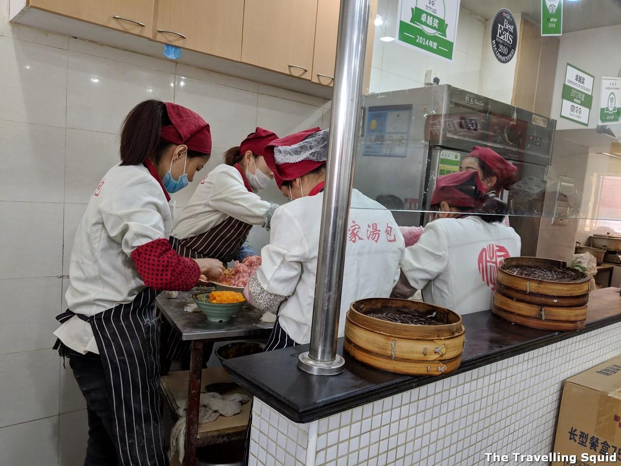 Jia Jia Tang Bao making xiao long baos