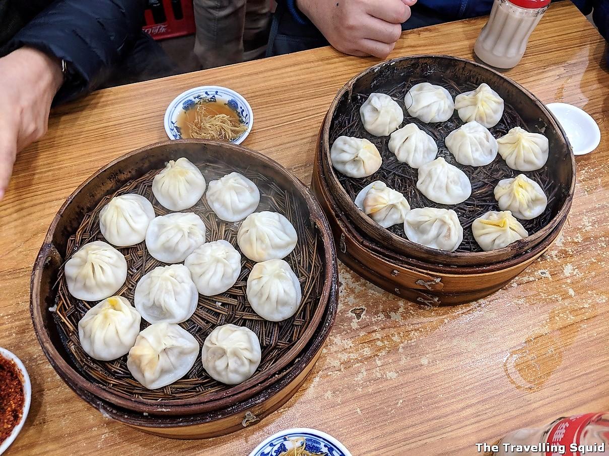 Xiao long bao Jia Jia Tang Bao bamboo steamers