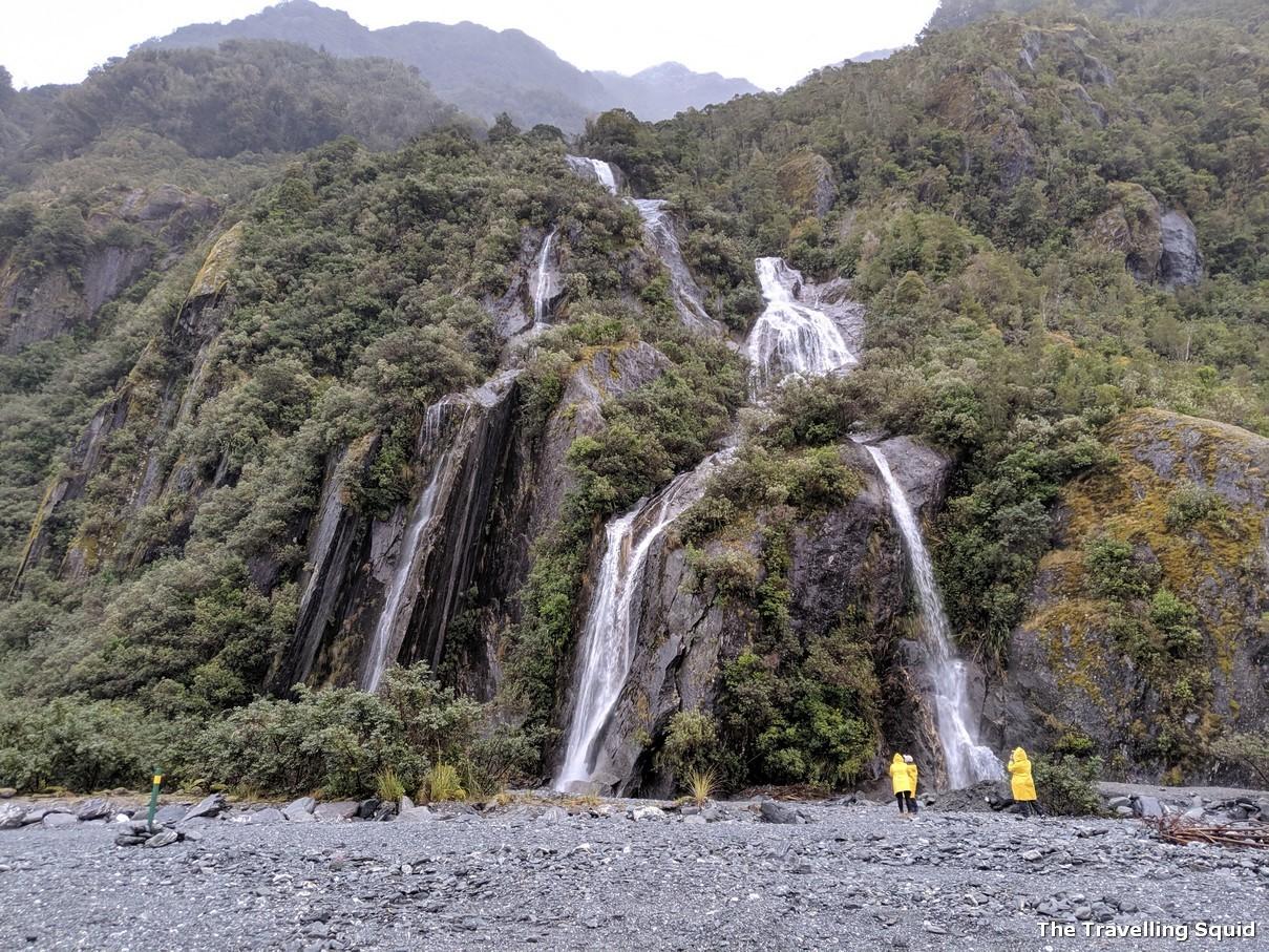 waterfall franz josef glacier
