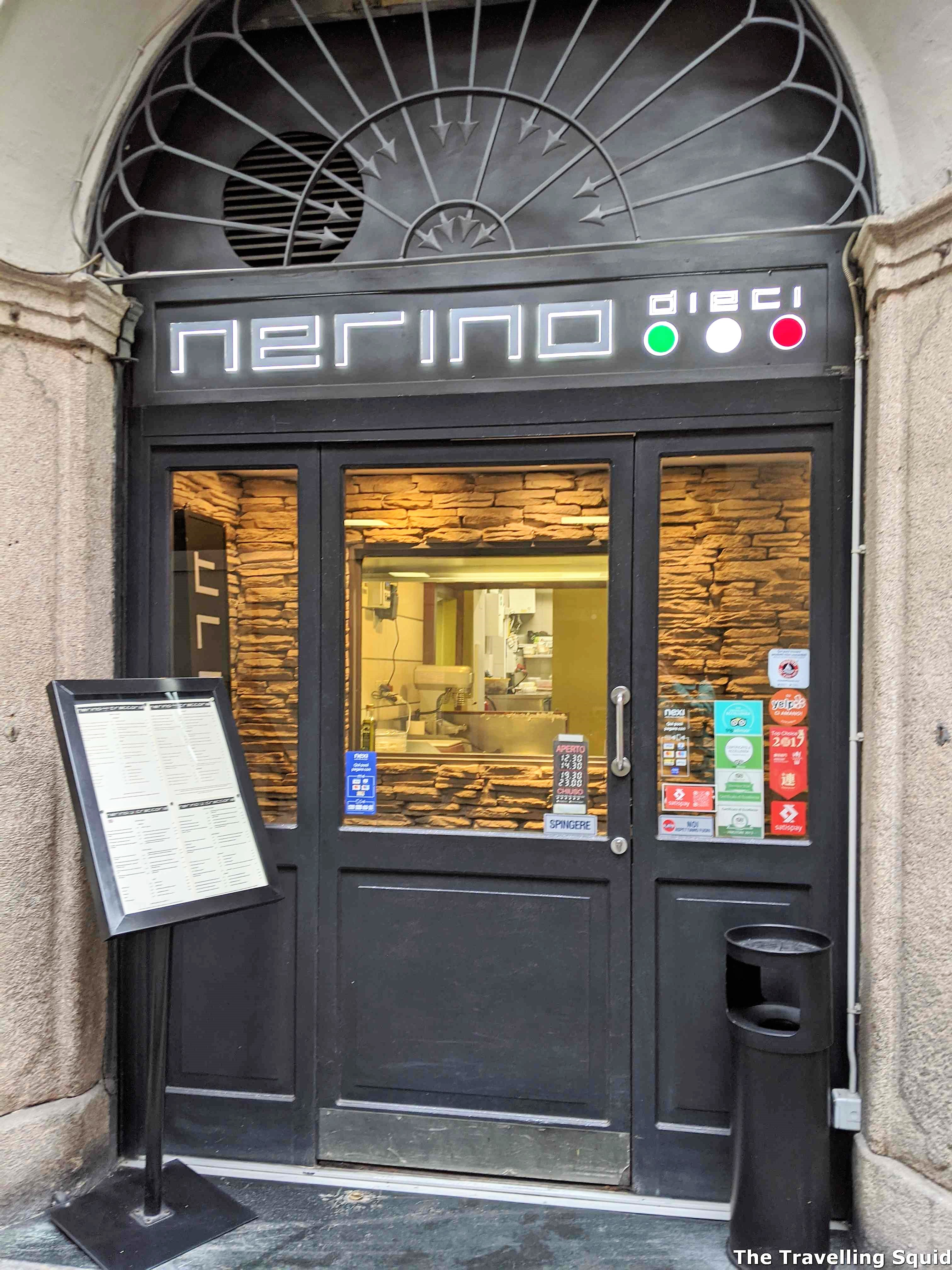 Lunch at Nerino Dieci Trattoria in Milan