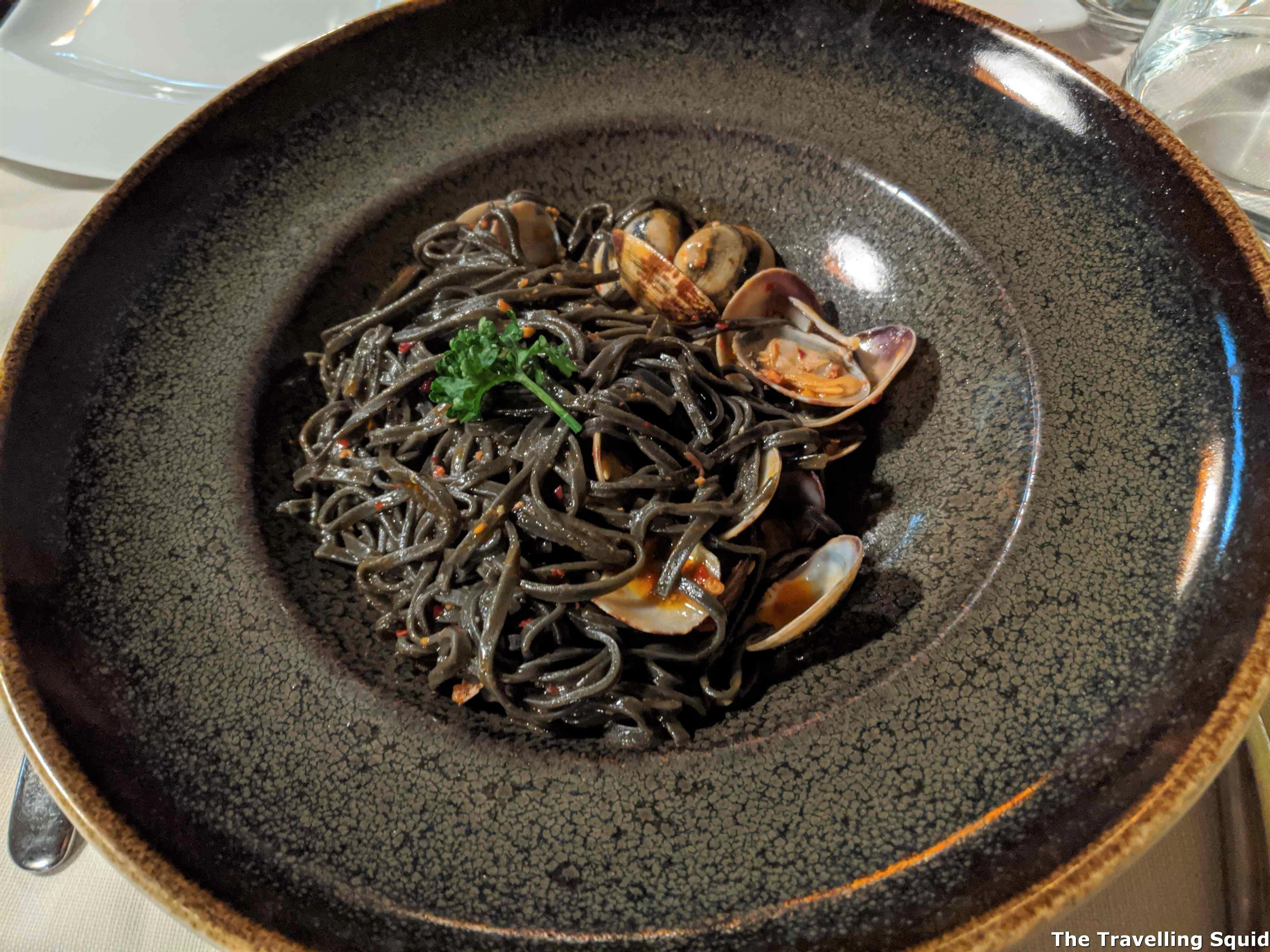 spicy black noodles Nerino Dieci Trattoria in Milan
