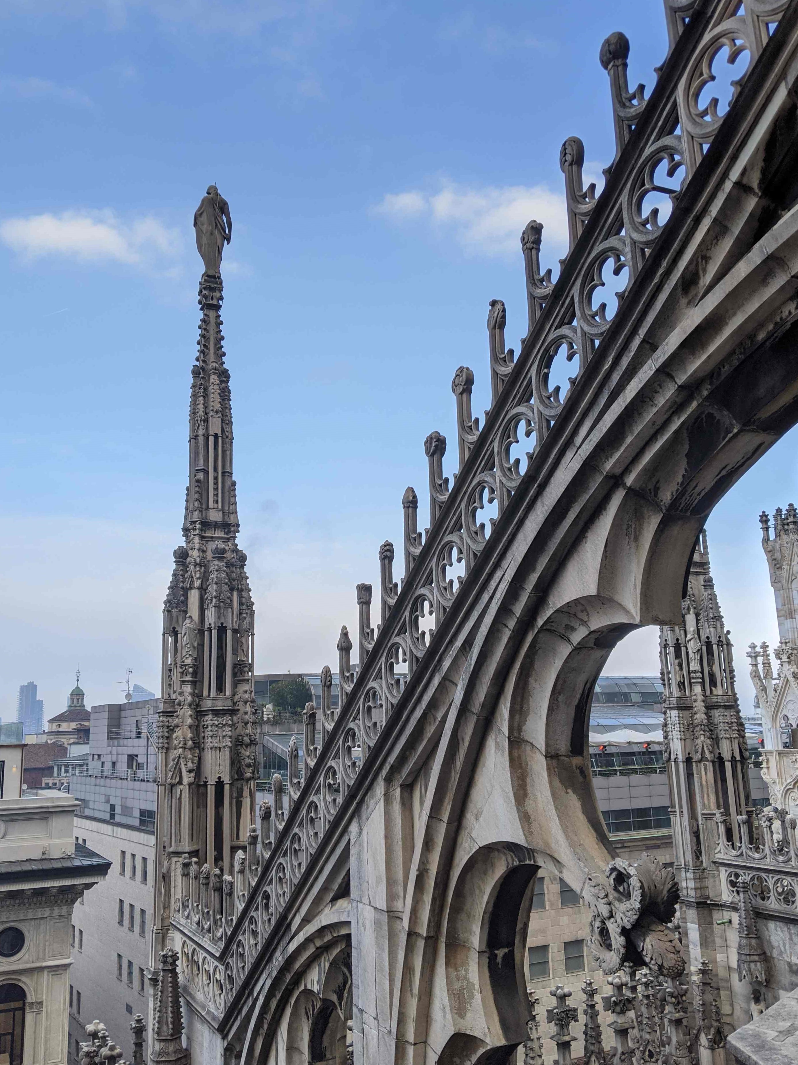 milan cathedral rooftops
