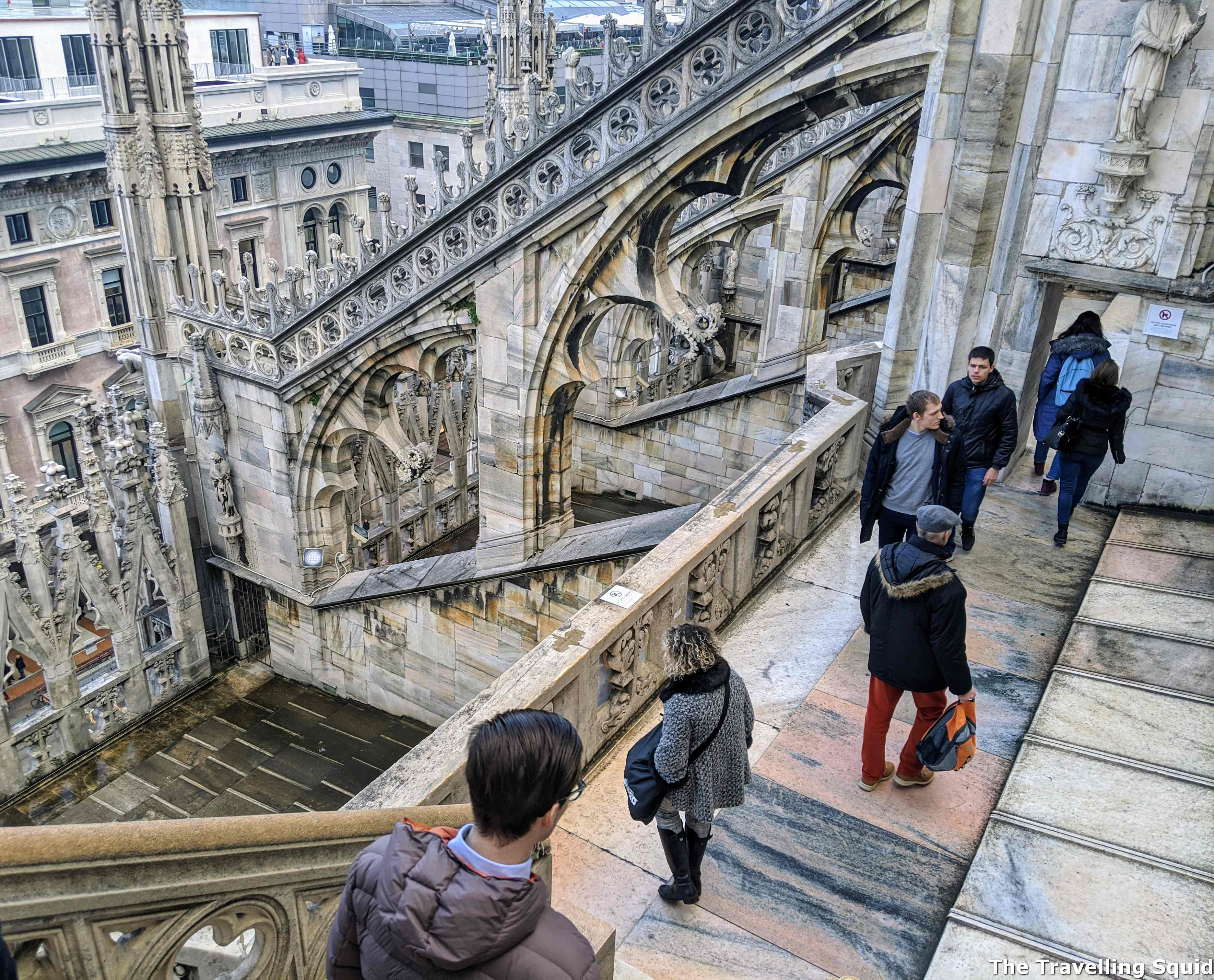 milan cathedral stairs