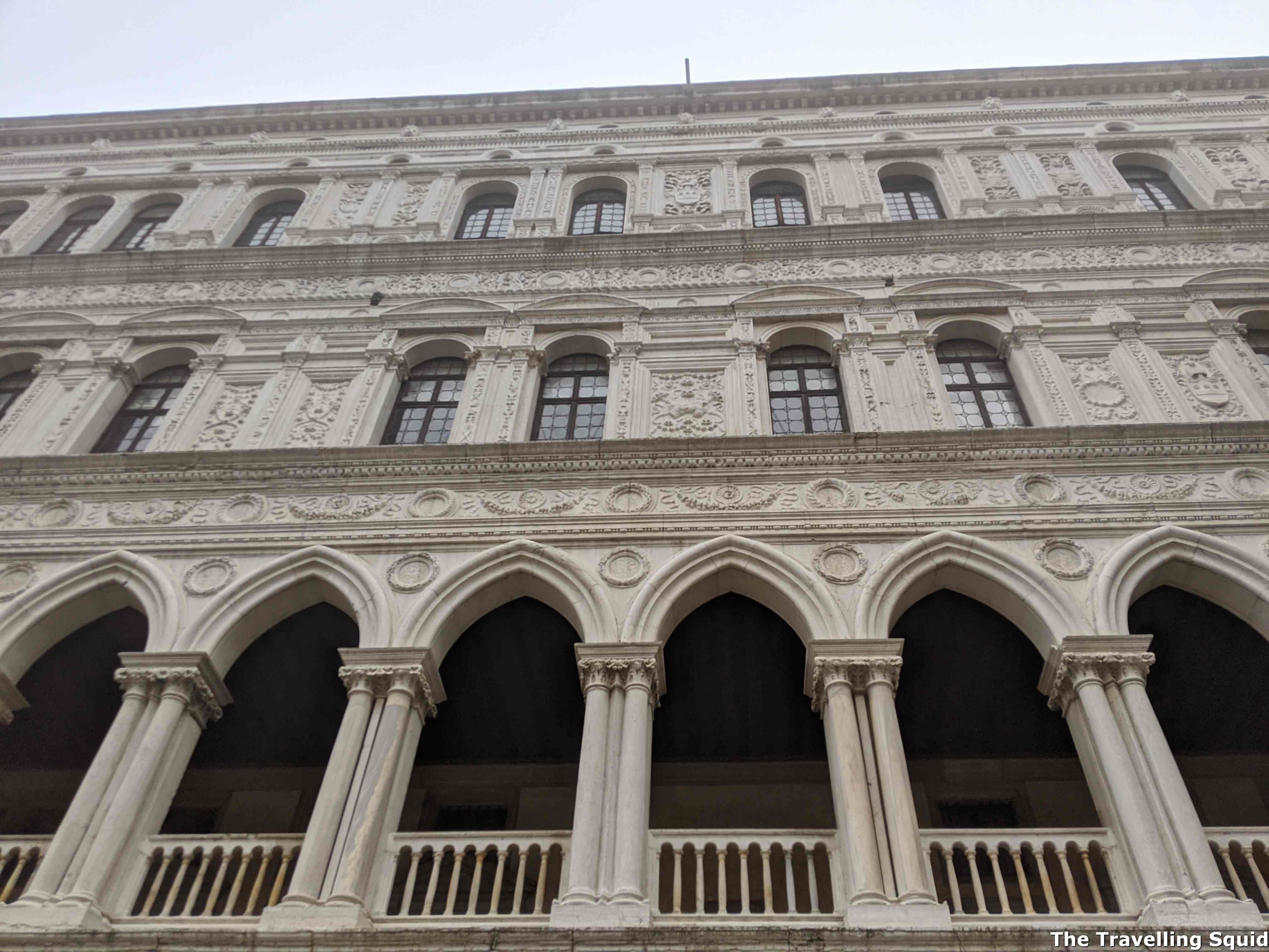 Facade doge's palace venice
