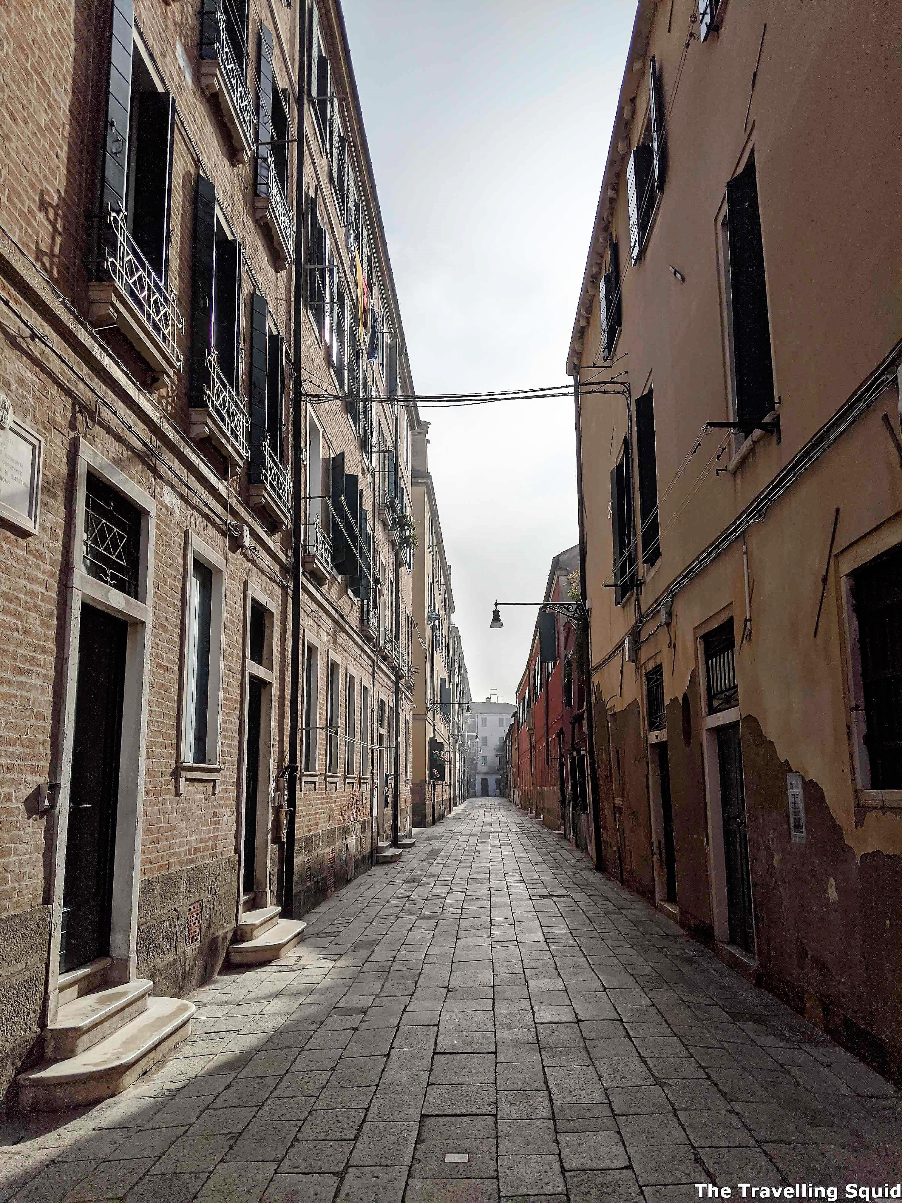empty buildings in castello venice