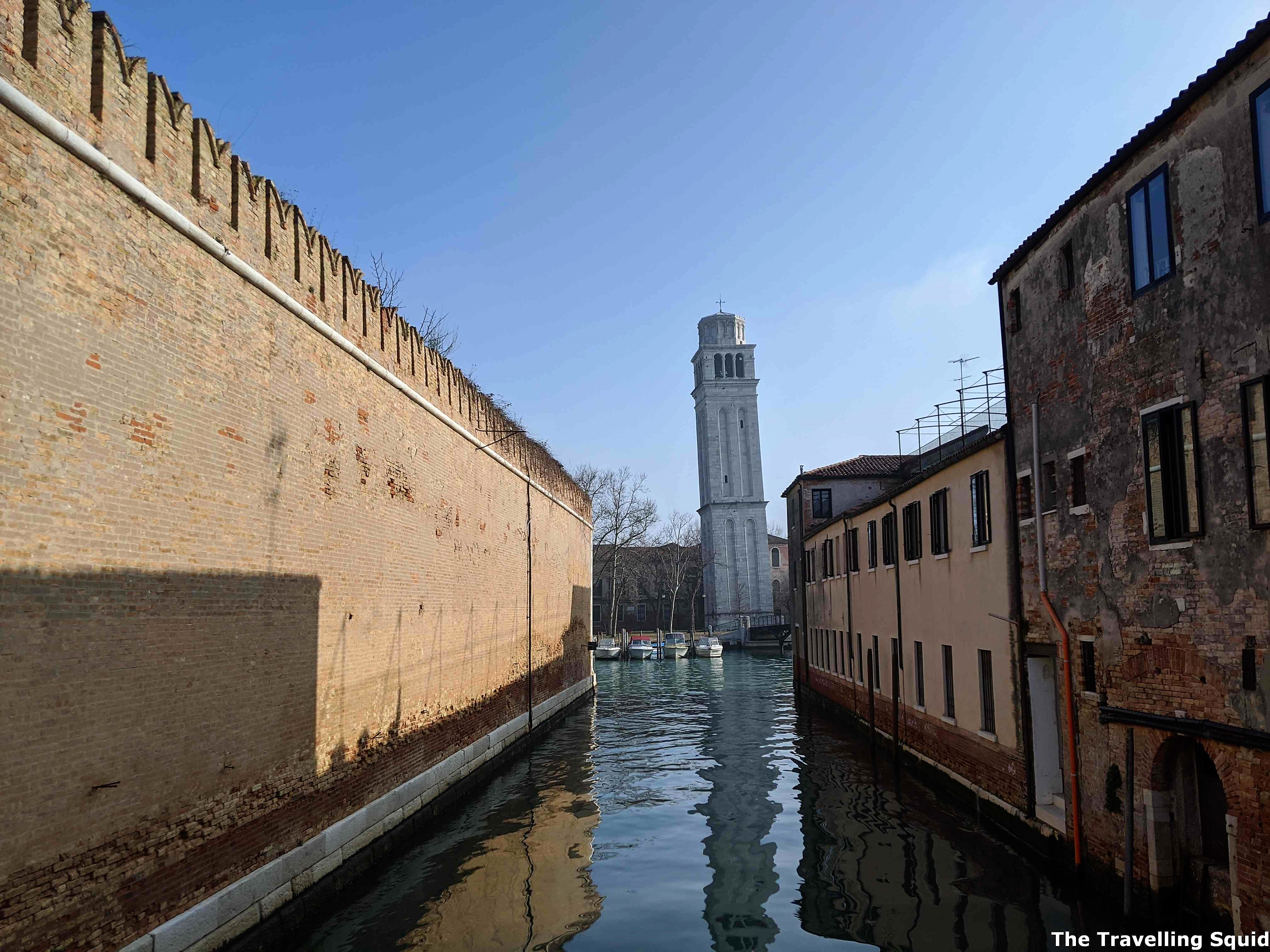 Leaning tower venice castello