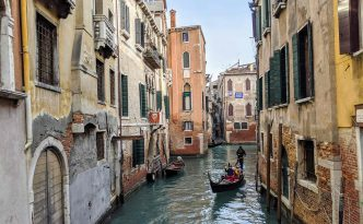 venice gondolas canals