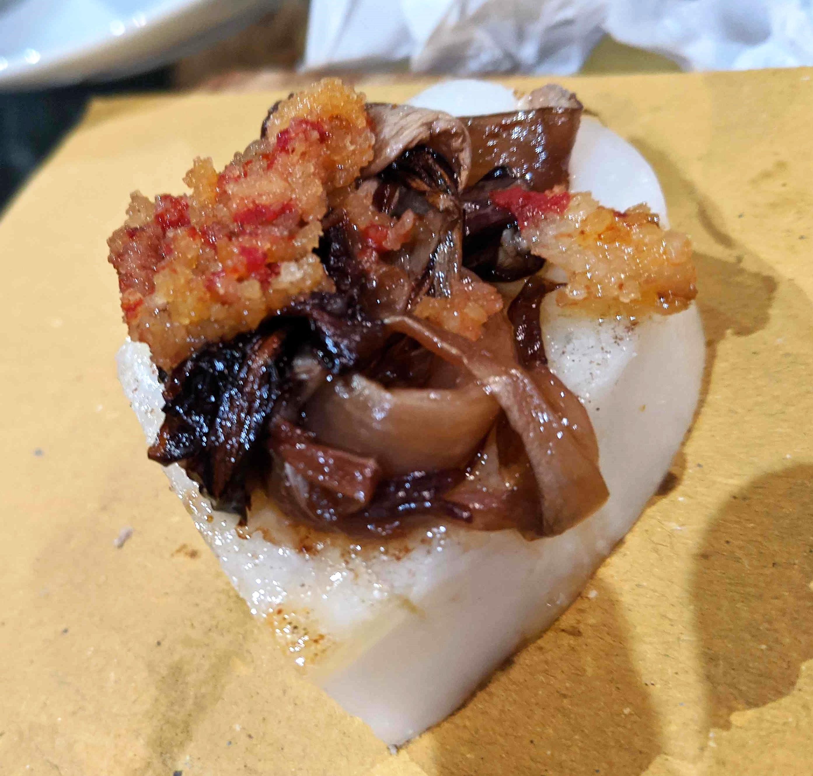 polenta crostini with mushrooms mushrooms