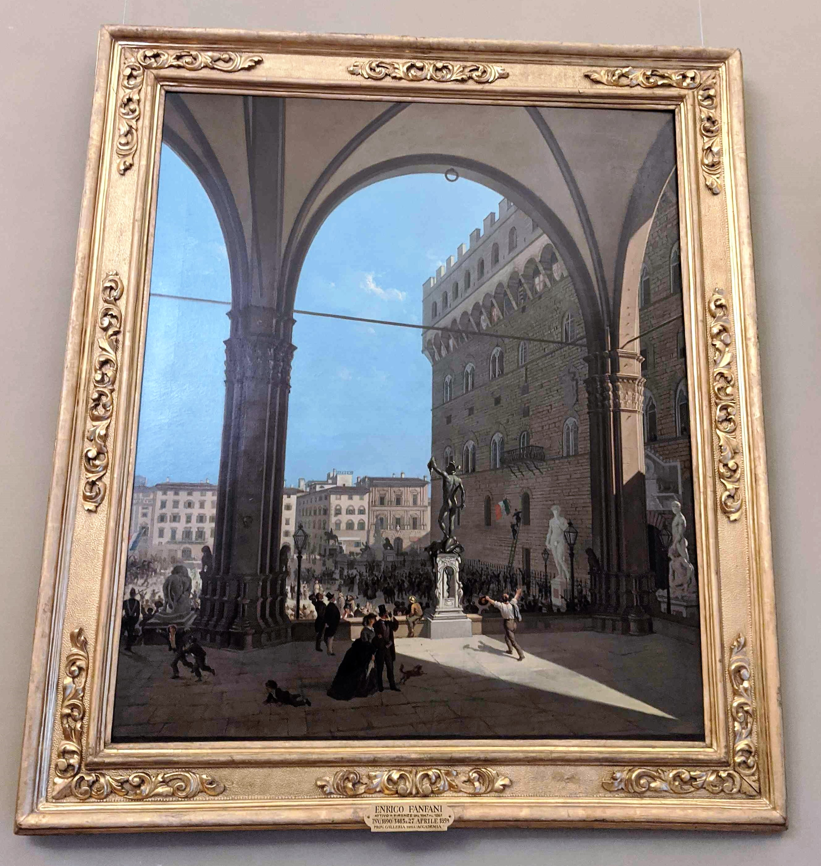 The morning of 27 April 1859 Enrico Alessandro Fanfani 7 lesser-known paintings at Pitti Palace's Gallery of Modern Art