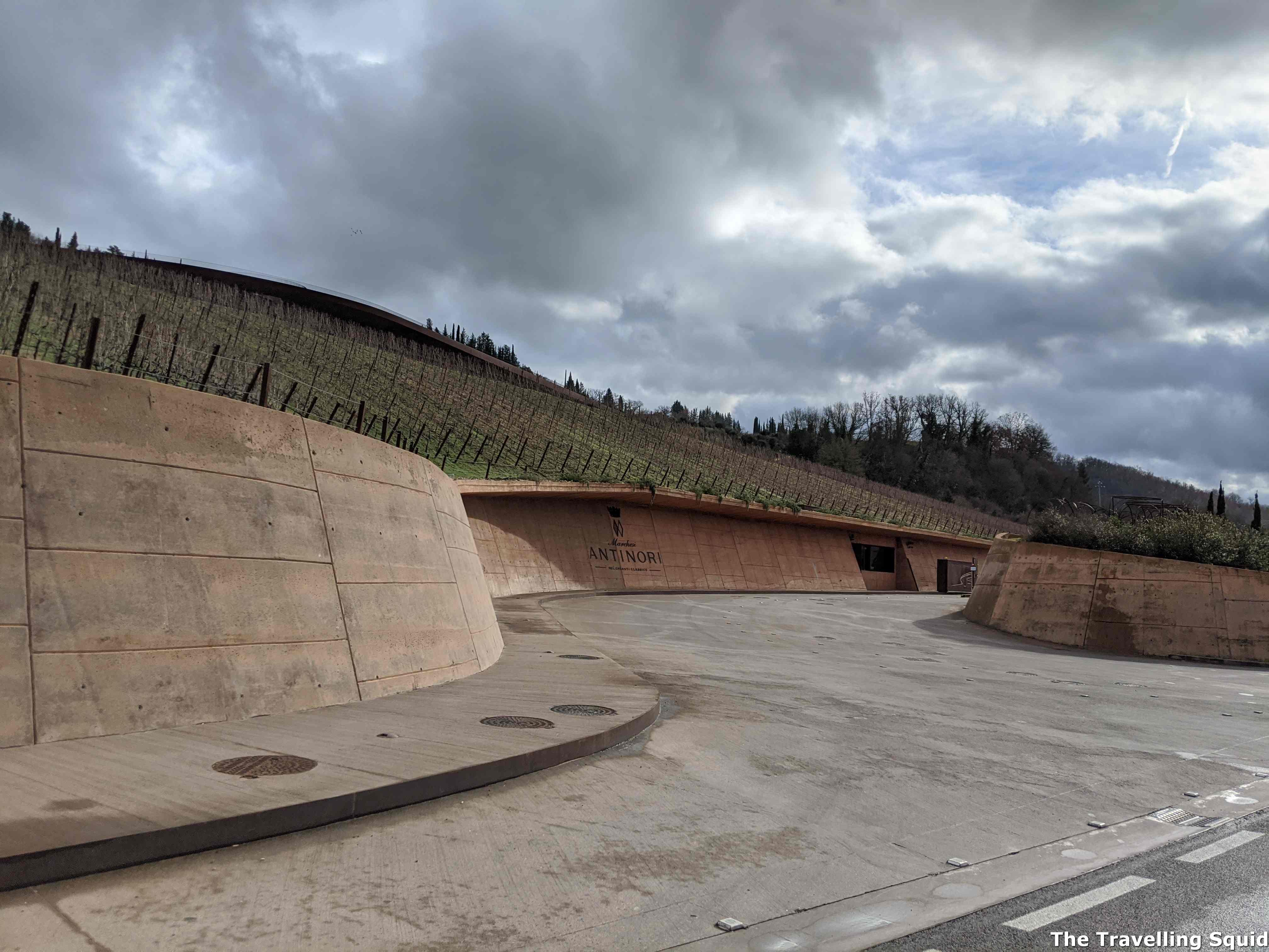 antinori classico winery driveway