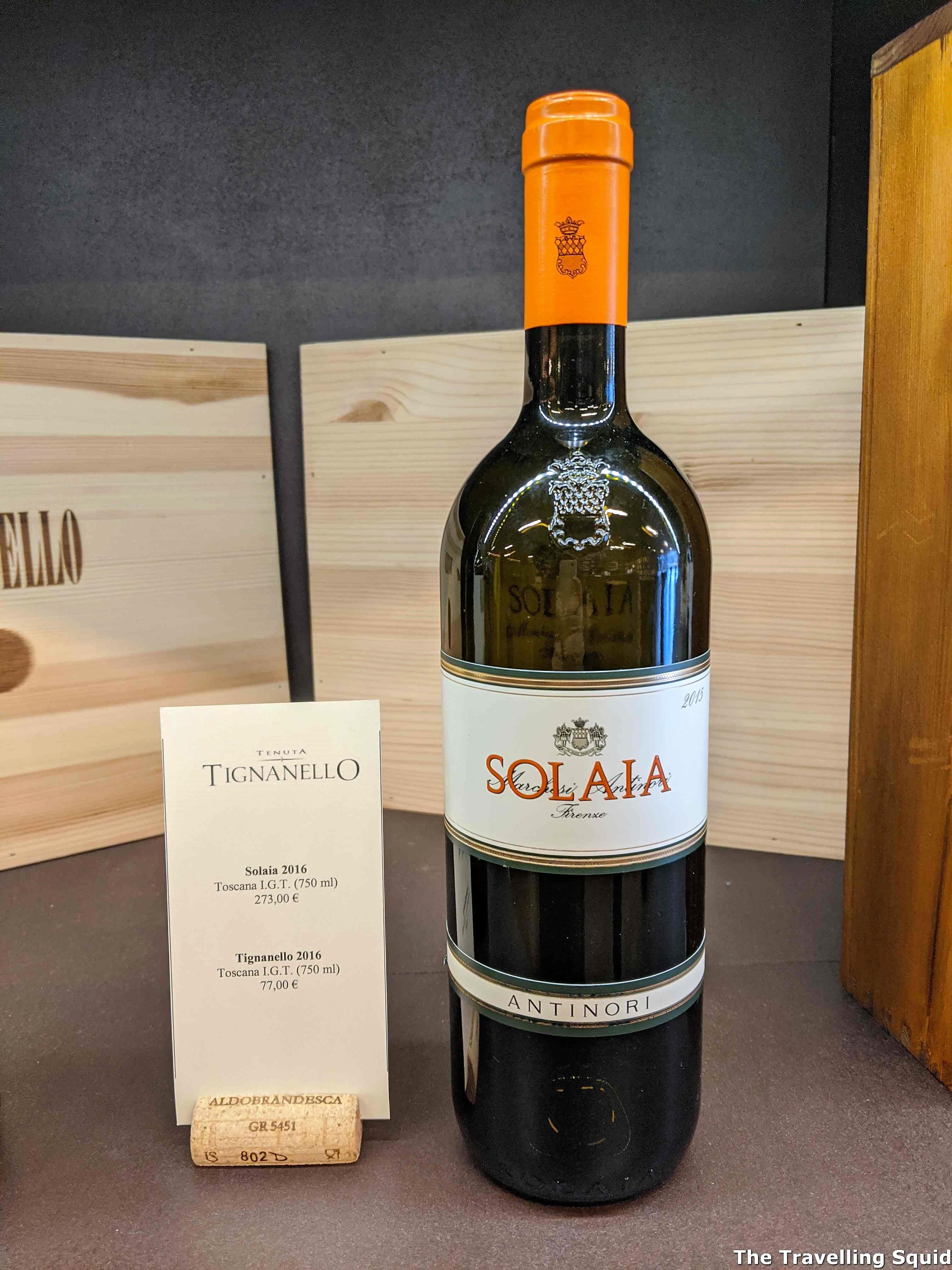 Solaia antinori super tuscan pioneer