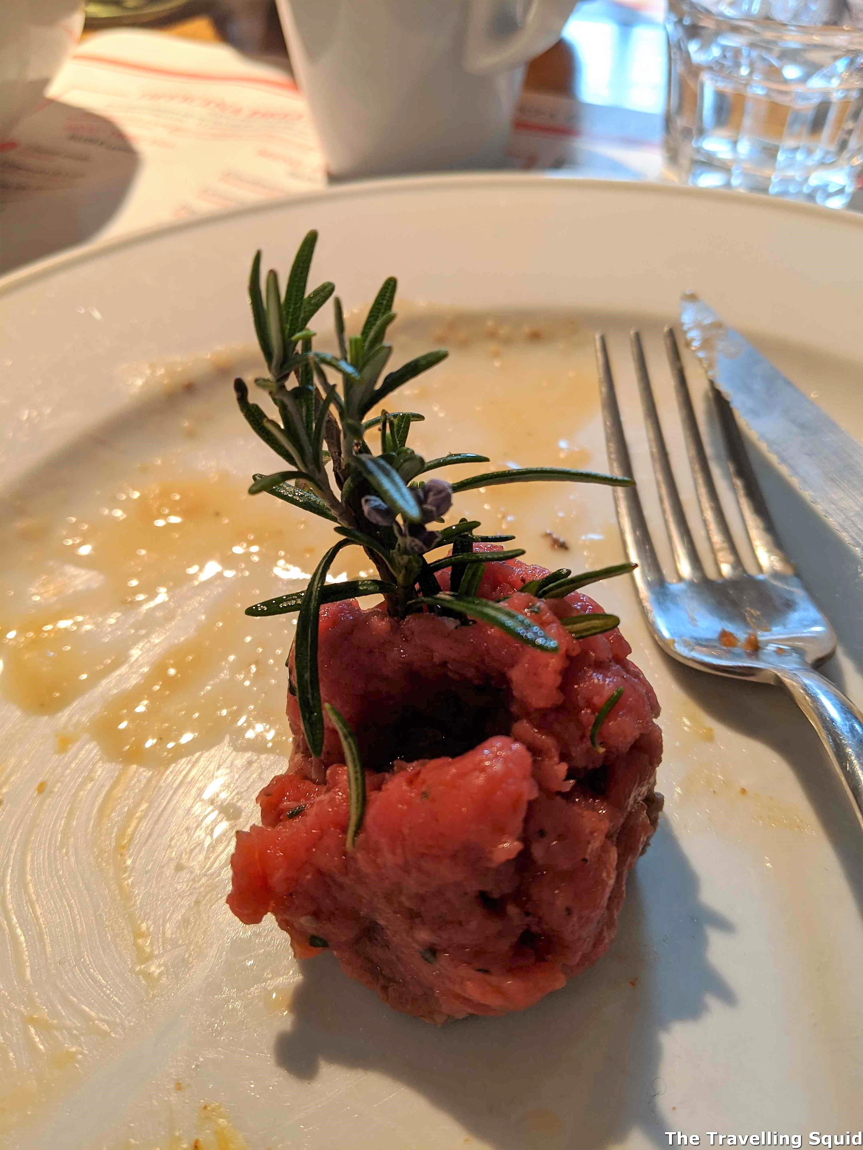 rosemary up the bum lunch at Dario CecchiniSolociccia
