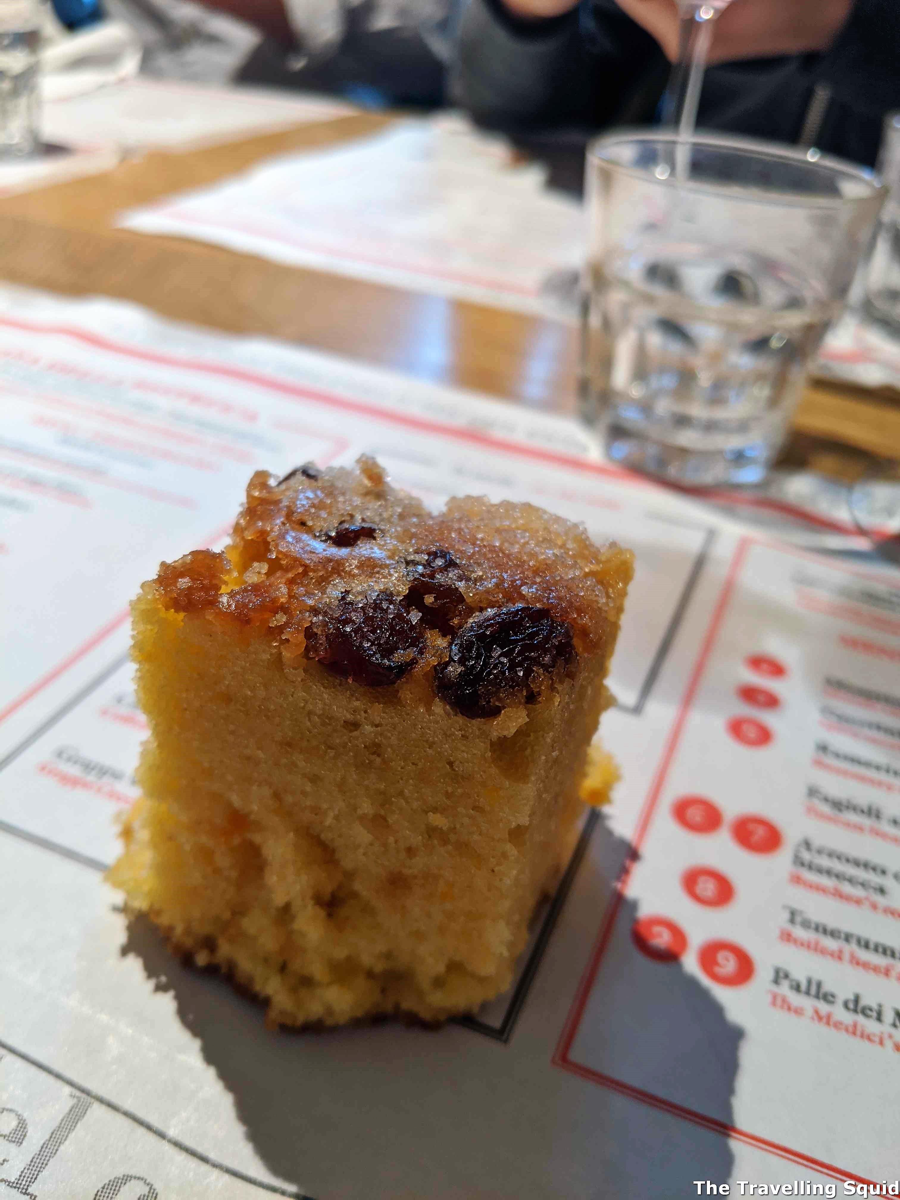 olive oil cake lunch at Dario CecchiniSolociccia