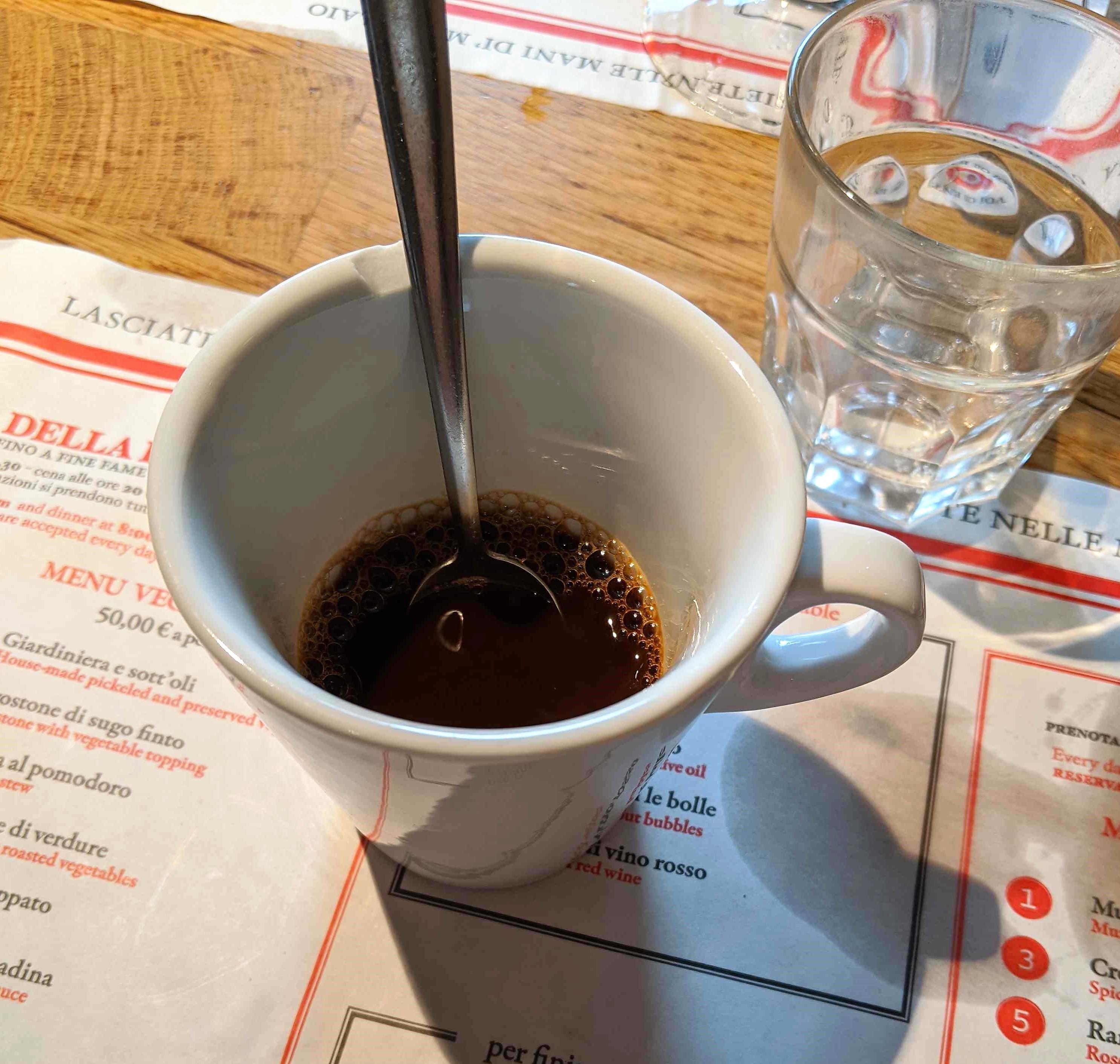 coffee lunch at Dario CecchiniSolociccia