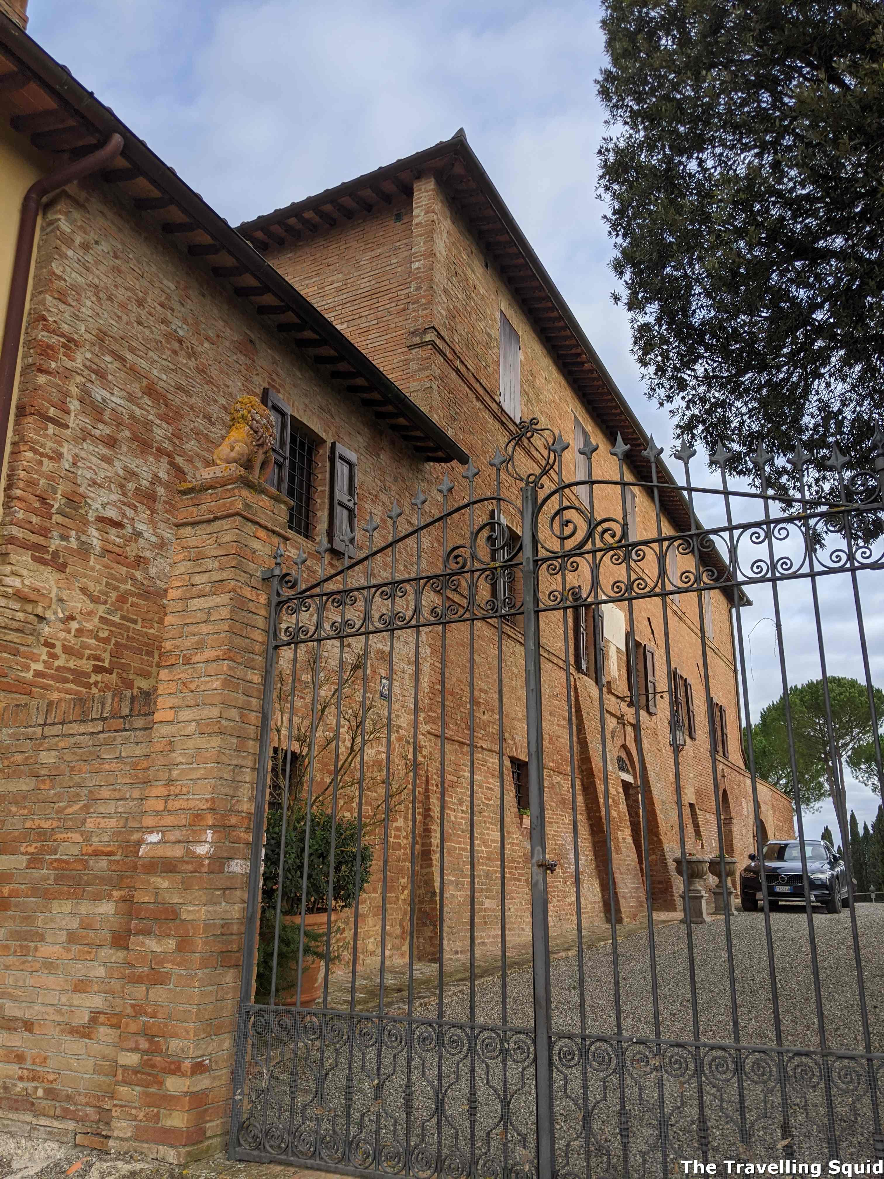 cellar door of Altesino in Montalcino Tuscany