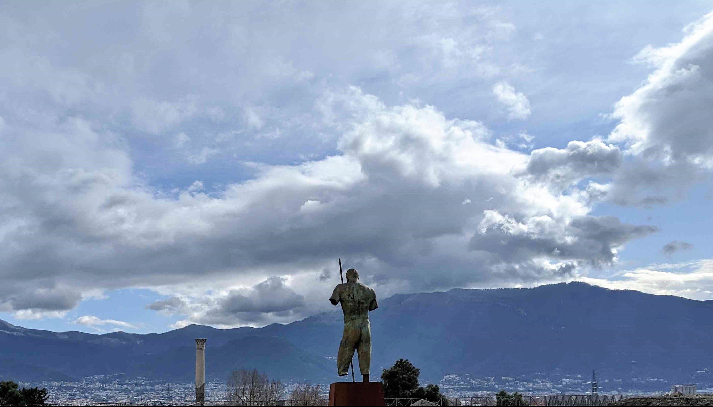 Daedalus Pompeii bronze statue Igor Mitoraj