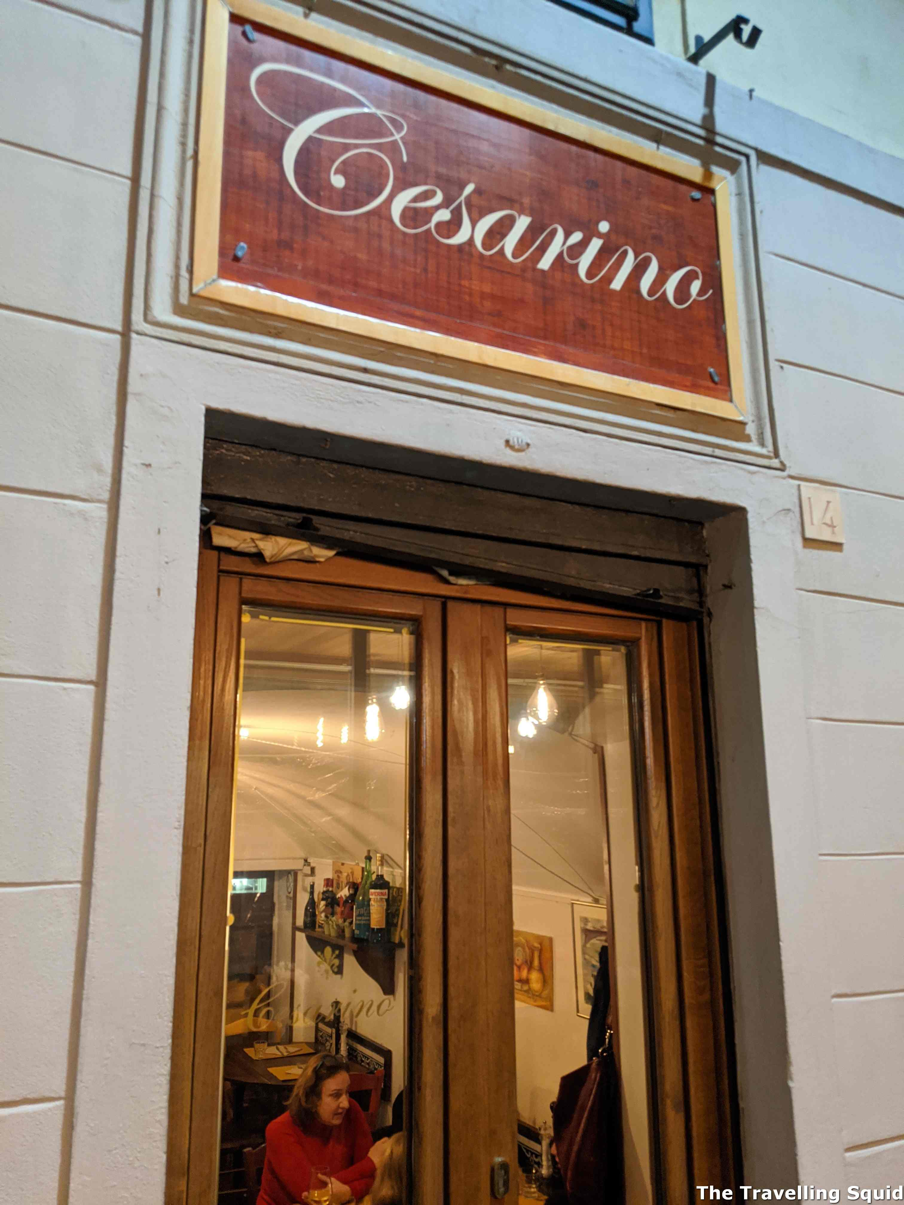 dinner at Trattoria Cesarino in Florence
