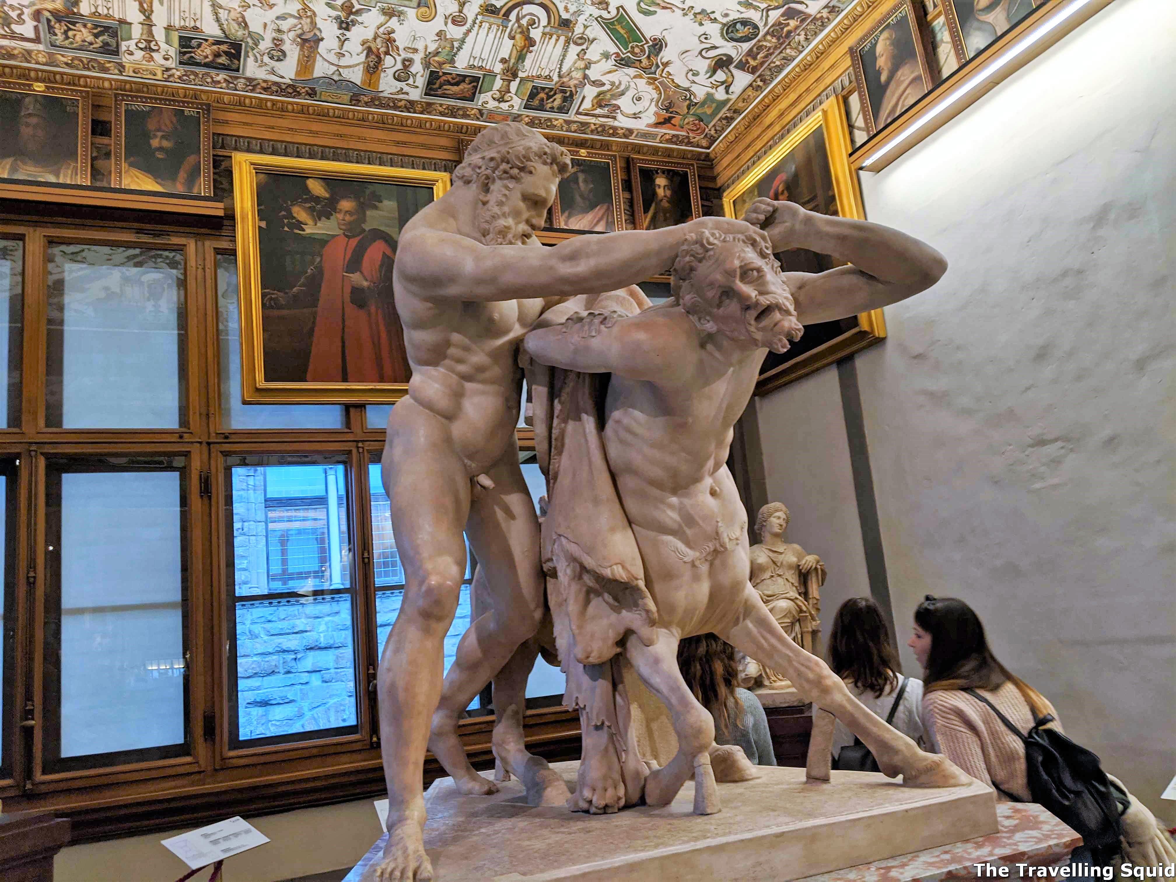 group of hercules slaying the centaur nessus uffizi