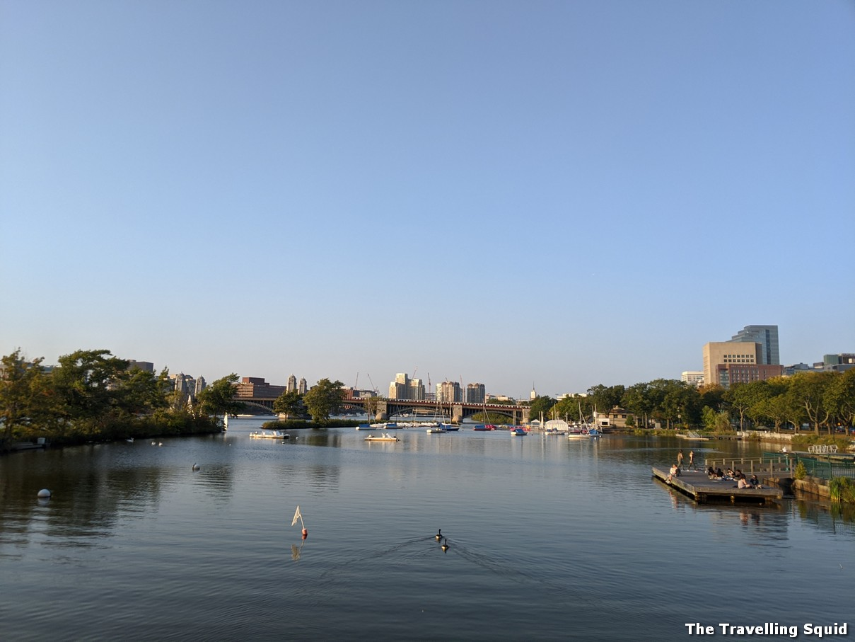 running route along Charles River Esplanade in Boston