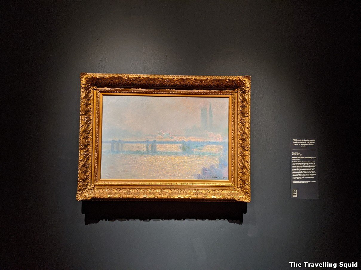 Charing Cross Bridge Monet and Boston exhibition at the Museum of Fine Arts