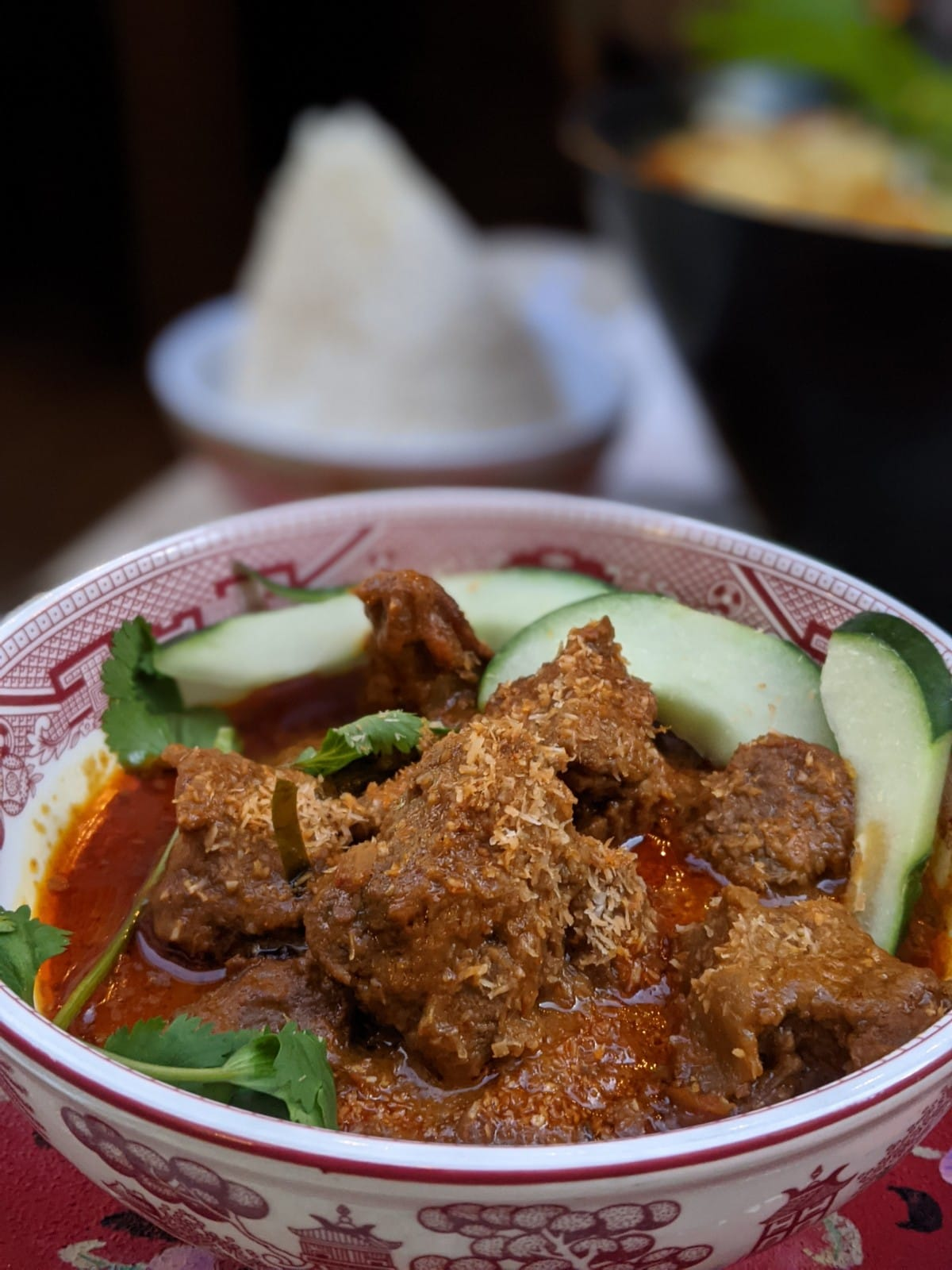 beef rendang Laut in NYC for authentic Singaporean food